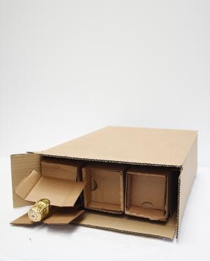 Caixa para 3 Garrafas de Cartão Canelado (Packs de 20 unidades)